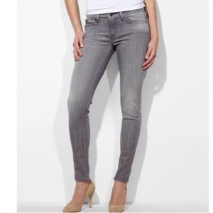 LEVI'S bold Curve gray JEANS low rise SKINNY denim